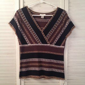 Harold's M Brown Fitted Sweater Tank Top